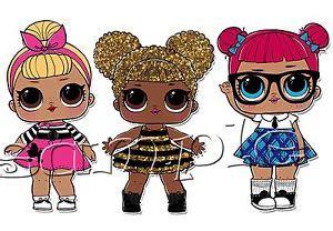 iron  transfer lol doll dolls queen bee teachers pet sis