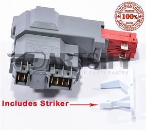 New Wssh300g0ww Front Load Washer Door Lock  U0026 Strike For