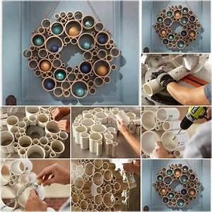 How to make pretty wall tube decor step by step DIY ...