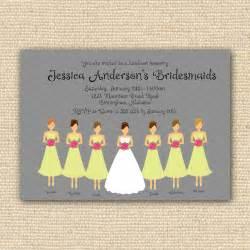 bridesmaid brunch bridesmaids luncheon invitation bridal brunch diy