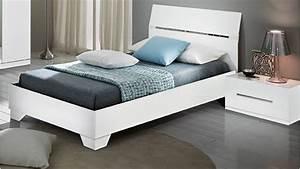 Lit Blanc 1 Personne : chevet laqu blanc design sesto de qualit ~ Teatrodelosmanantiales.com Idées de Décoration