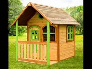 cabanes et maisonnettes de jardin en bois pour les enfants With decoration exterieur pour jardin 2 cabane jardin bois