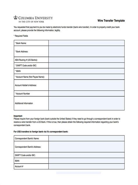 FREE 5+ Blank Transfer Forms in MS Word   PDF