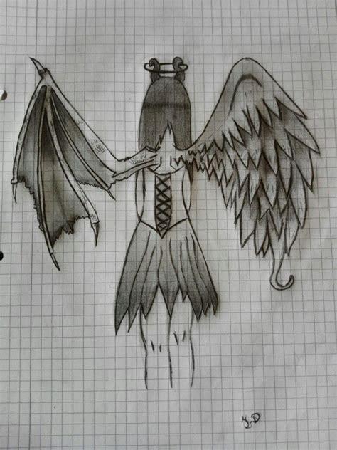 halb daemon halb engel zeichnungen pinterest