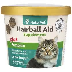 hairball treatment for cats naturvet 174 hairball aid supplement plus pumpkins 60 soft