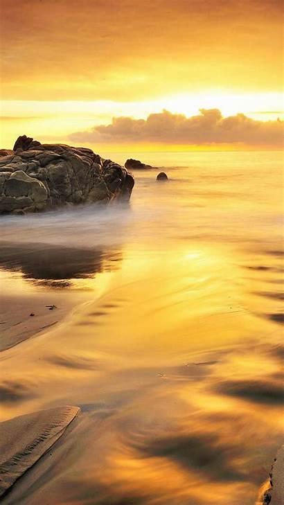 Iphone Gold Wallpapers Beach Sea 6s Golden