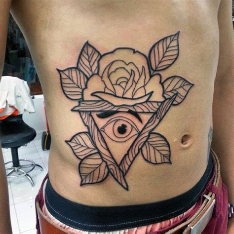illuminati tattoos  men enlightened design ideas