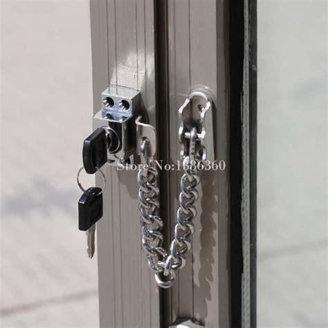 stainless steel casement window guard window door restrictor child safety security chain lock