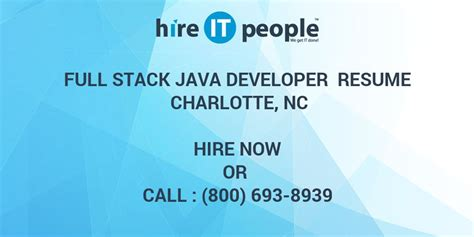 full stack java developer resume charlotte nc hire