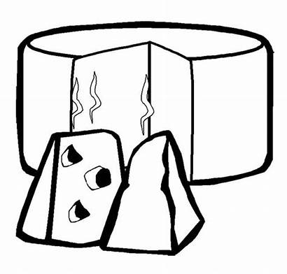 Cheese Coloring Slice Pages Colouring Action Template