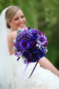 Blue and Purple Flower Bouquets