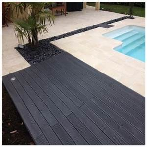 Lame Terrasse Bois Composite Plein Maxima 4273601