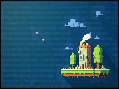 Pixel Fez Backgrounds Ecosystem Background Wallpapers Desktop