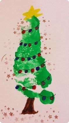 tannenbaum weihnachtskarten diy fuer kleinkinder