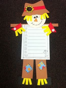 scarecrow craft  writing activities  bright concepts