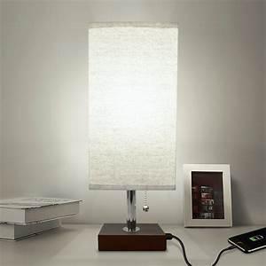 Bedside, Table, Lamp, Usb, Aooshine, Modern, Desk, Lamp, Solid