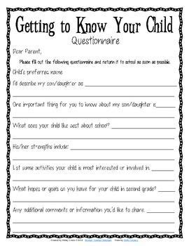 getting to your child questionnaire for parents 854 | d851a5041d9d01a965b012b3d4505af1 child art parent notes