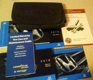 Honda Civic 2010 Oem Sedan Owners Manual  Case  Booklets