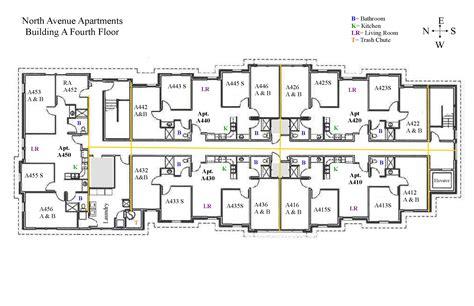 in apartment plans apartments north avenue hall colorado mesa university also 4th floor apartment plans designs