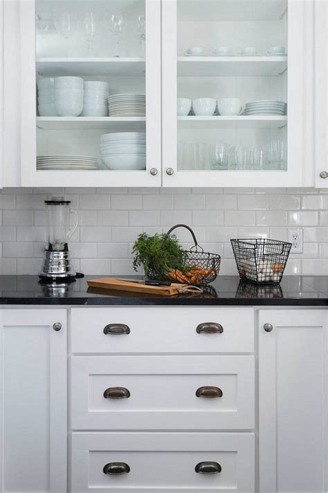 white kitchen black tiles image result for black granite countertops with subway 1328