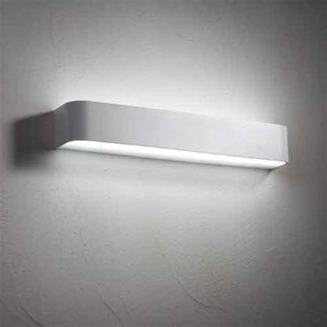 leon 20 watt non dimmable brushed silver led wall light