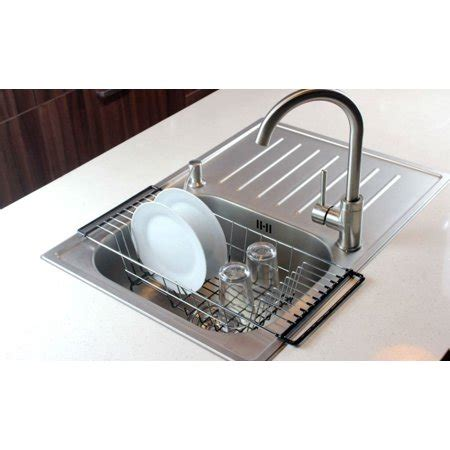 in sink dish rack neat o the sink kitchen dish drainer rack durable