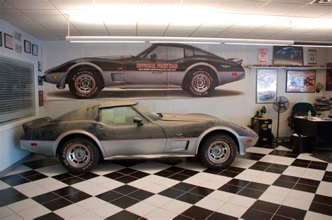 amazing  corvette pace car barn find   original