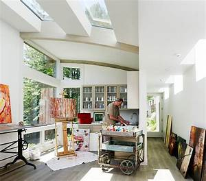20 trendy ideas for a home office with skylights for Art studio design ideas