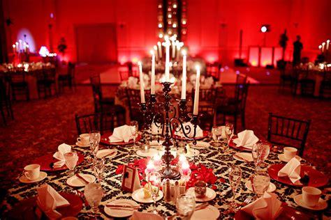 Elegant Black & Red Florida Wedding