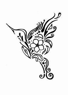 Hummingbird forget me not design tattoo | Hummingbird tattoo, Tattoos, Alzheimers tattoo