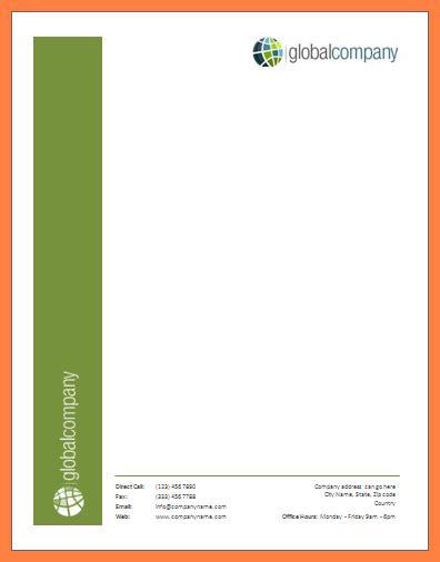 microsoft word letterhead template company letterhead