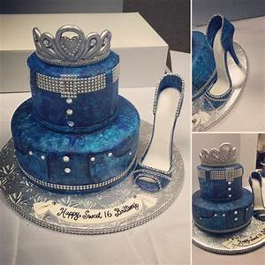 Diamond and denim themed sweet 16 cake made by Kakes By Kena | Custom Cakes I Made | Pinterest ...