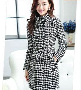 chic korean style plaids check warm thick winter women