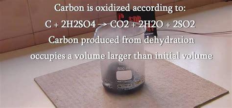 charcoal carbon   dehydration  sugar