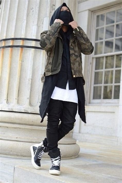 Jacket Camouflage Green Hoody Black White Shoes