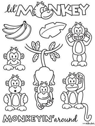 Best Monkey Coloring Pages Ideas And Images On Bing Find What