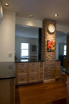 exposed chimney  kitchen similar