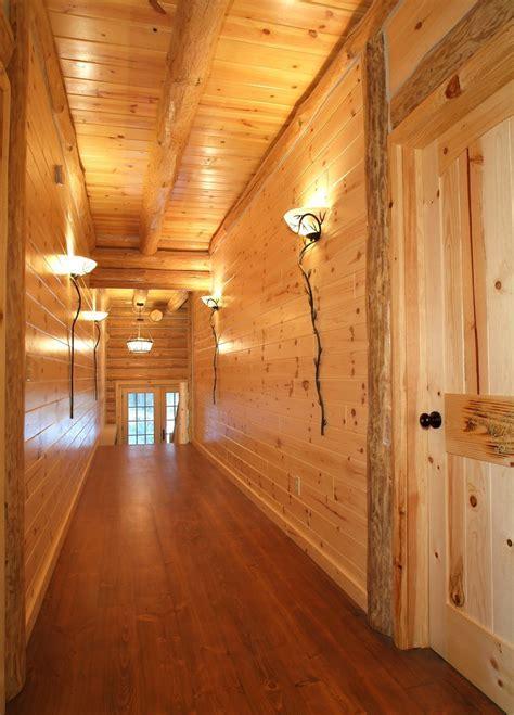 mio michigan united states knotty pine walls hall rustic