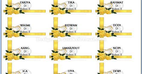 label undangan unik  background gambar bunga