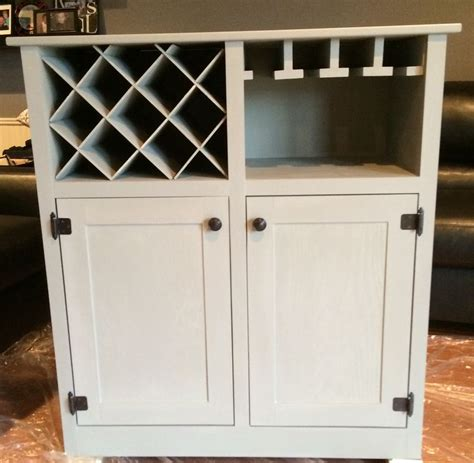 diy wine cabinet furniture pinterest jars coffee