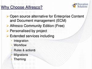 enovation solutions alfresco project collaboration With alfresco document management pricing