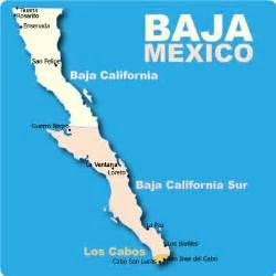Baja Mexico Vacation Map