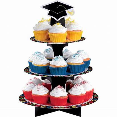 Cupcake Graduation Stand Cupcakes Party Multicolor Holds