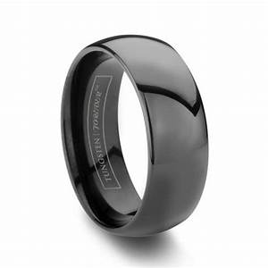 Mens Black Tungsten Carbide Band Wedding Inspirations