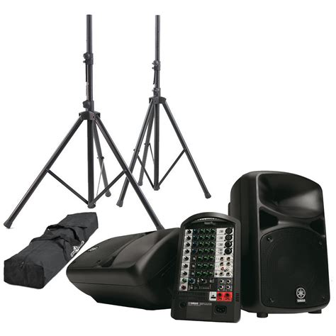 yamaha stagepas 600i yamaha stagepas 600i portable pa with speaker stands at gear4music