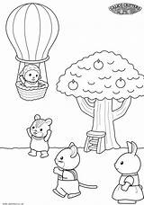Coloring Pages Sylvanian Critters Calico Families Getcoloringpages Ice Cream Colouring sketch template