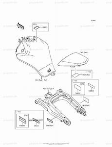 Kawasaki Motorcycle 2016 Oem Parts Diagram For Labels