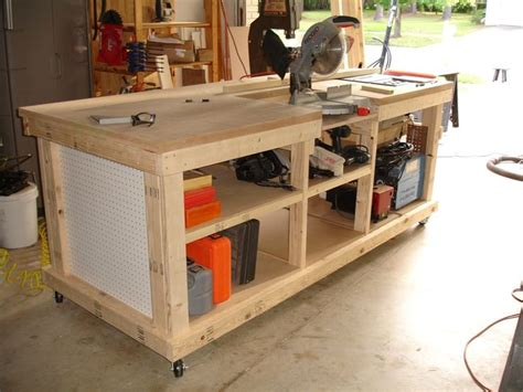 workbench  inset areas  miter table  diy