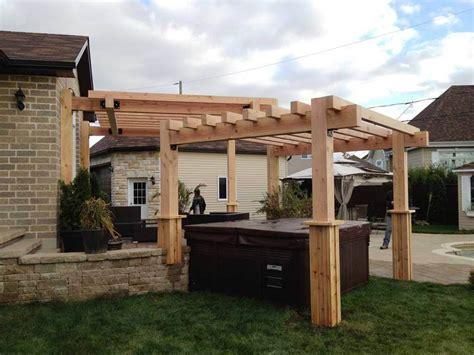 diy build patio pergola at home lowes patio design