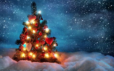 cute christmas tree computer desktop wallpaper